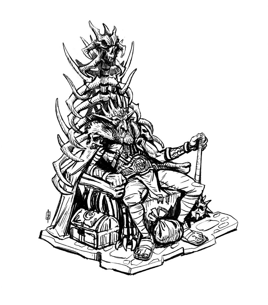 Creating a Fantasy Tabletop Miniature - Revised Throne
