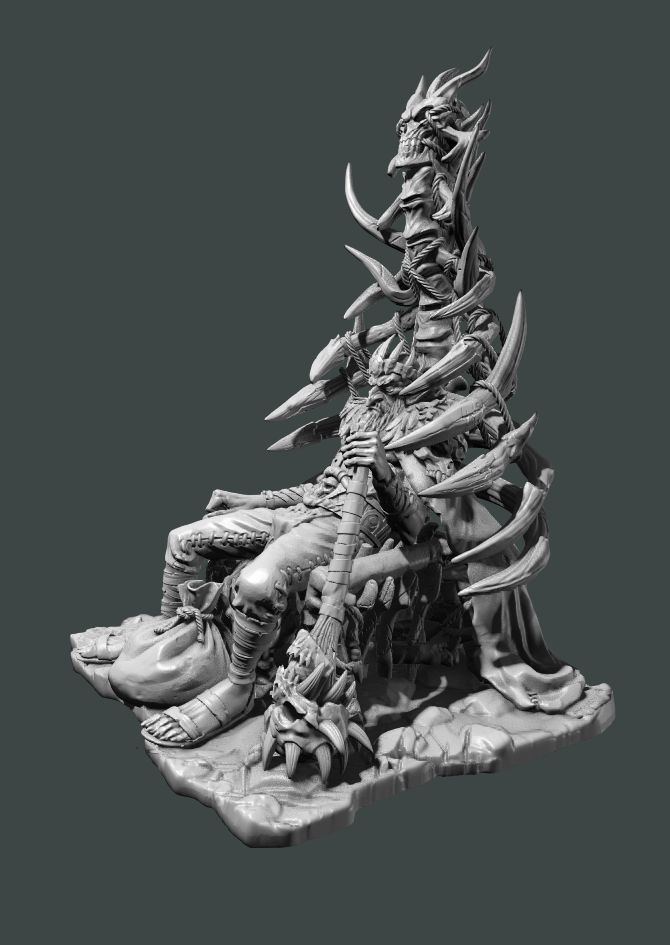 D&D Tabletop Mini - Krank the Goblin King - LeftView