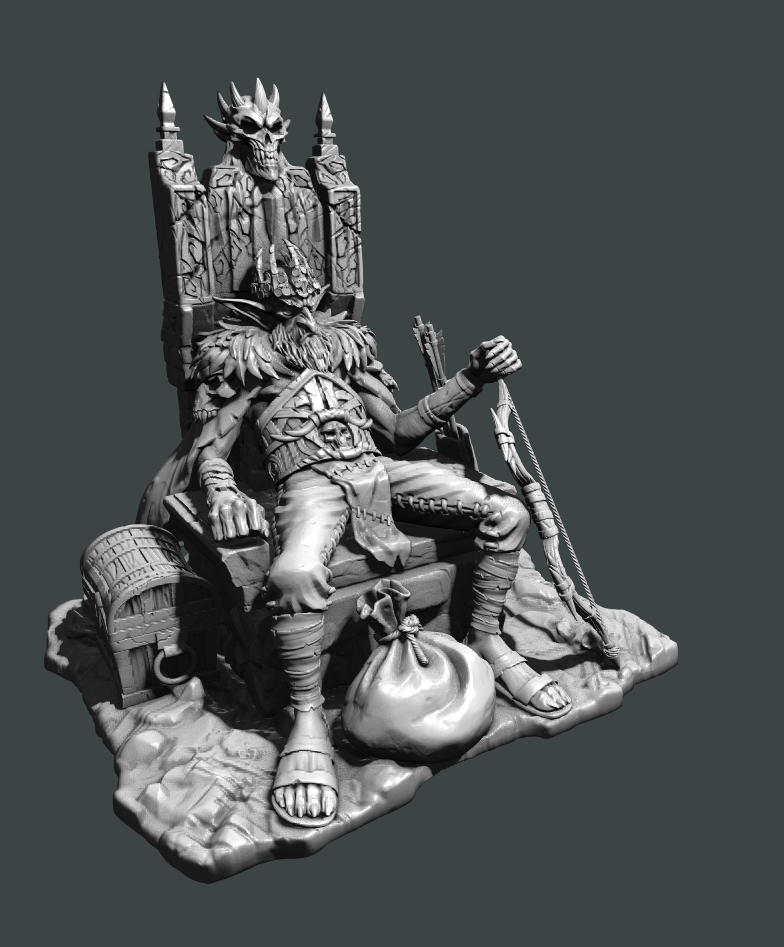 Tabletop Miniatures Goblin King